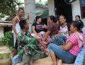 Ibu-Ibu Dusun Sekura, Dengarkan Wejangan Anggota Satgas TMMD